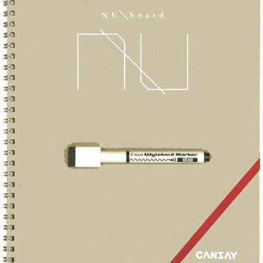 持ち運びできる。ノート型ホワイトボード「CANSAY NUboard」
