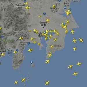 飛行機の現在位置がわかる「flightradar24」