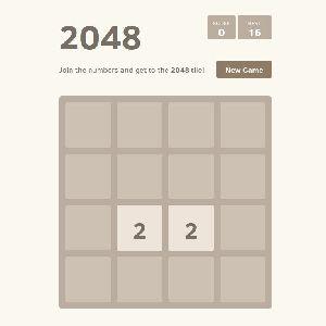シンプルだけどだんだん難しくなる、数字のパズルゲーム「2048」
